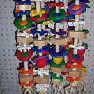 DREADBLOCK bird toy parrots FREE SHIPPING Cockatoos Macaws