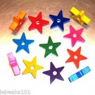 "2"" Wood Stars bird toy parts parrots cages crafts"