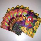 8 Matching Parrot NAPKINS birds household parties food