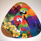 4 Matching Parrot Plates