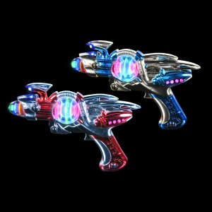 1 SUPER LASER II SPACE GUN with sound toy gift prize kids