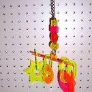 X AMOUNT acrylic bird toys parrots parts greys amazons