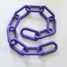 "2' of 3"" PURPLE Plastic Chain bird toy parts parrots cages"