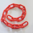 "2' RED Plastic Chain 2"" bird toy parts parrots cages"