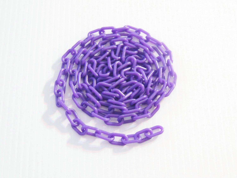 """5' Purple 3/4"""" Plastic Chain bird toy parts parrot glider"""