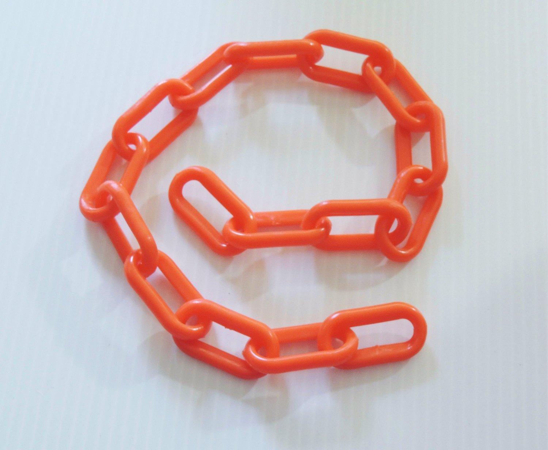 "2' 1.5"" ORANGE Plastic Chain bird toy part parrot monky"