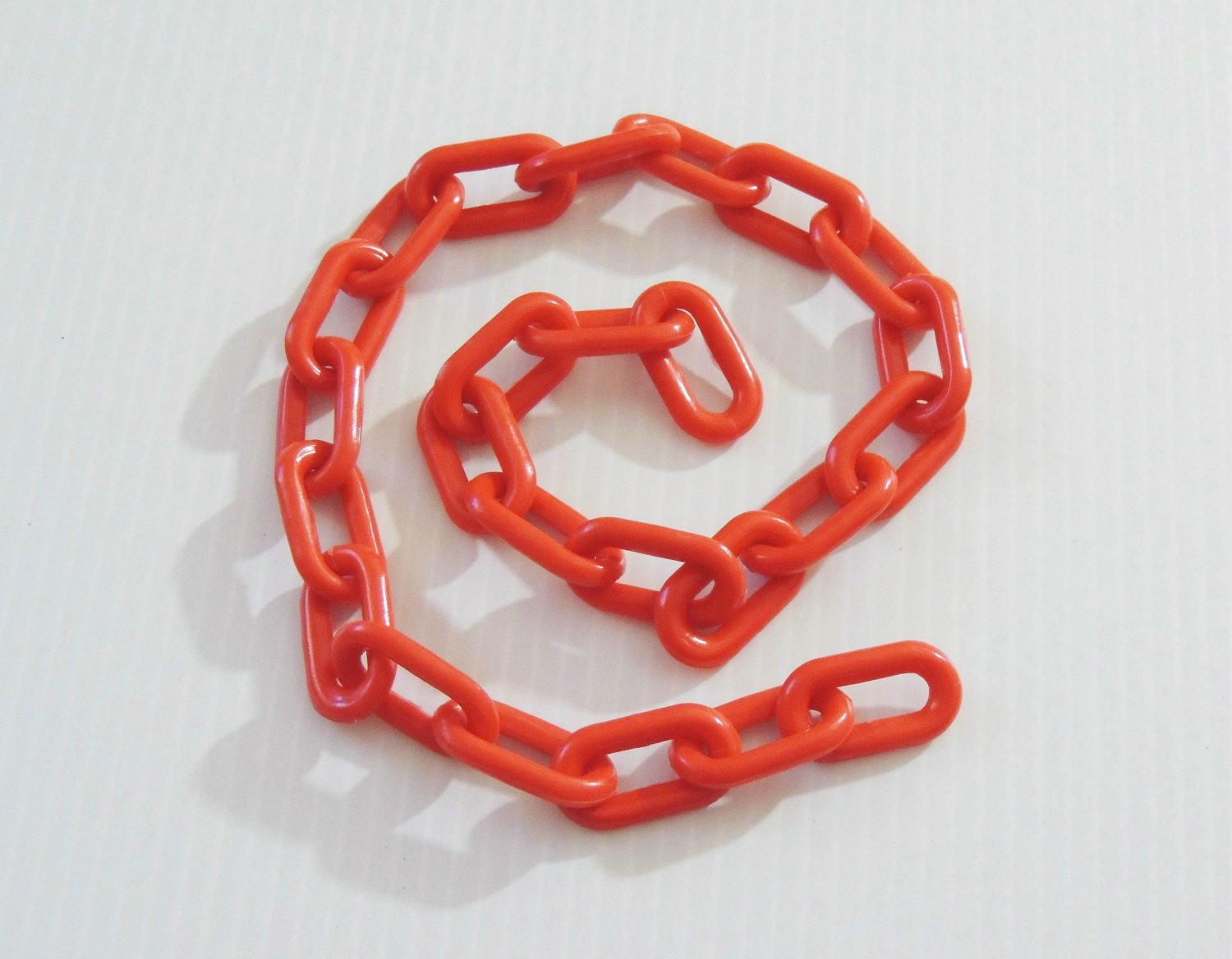 """2' 1.5"""" RED Plastic Chain bird toy part parrot monkey"""