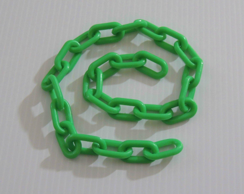 "2' 1.5"" GREEN Plastic Chain bird toy part parrot monkey"