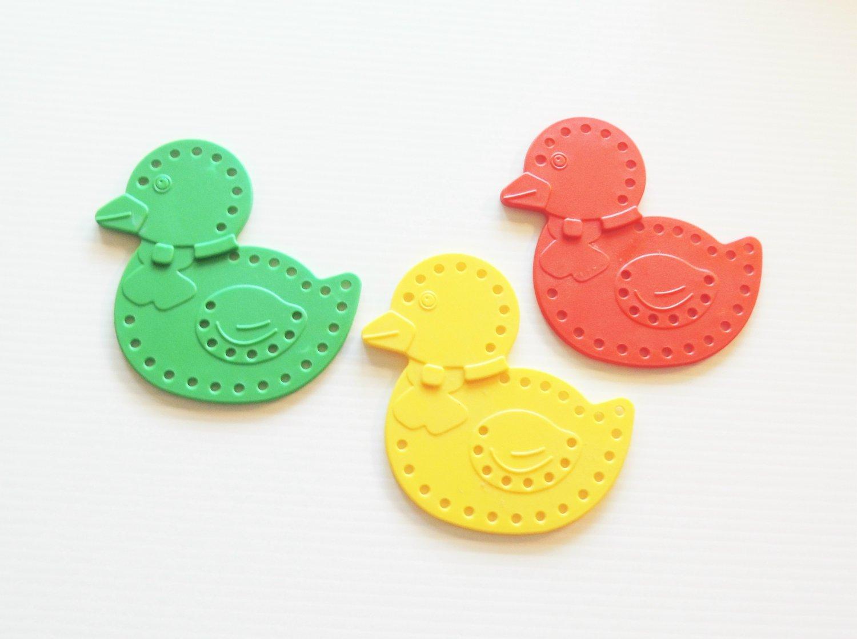 Large Plastic DUCK bird toy parts parrots cage crafts