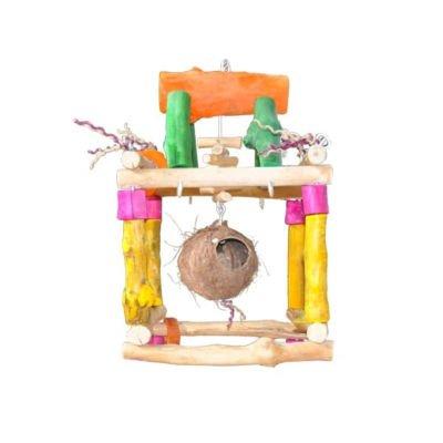 Java wood Swing Med perch bird toy parts parrots grays