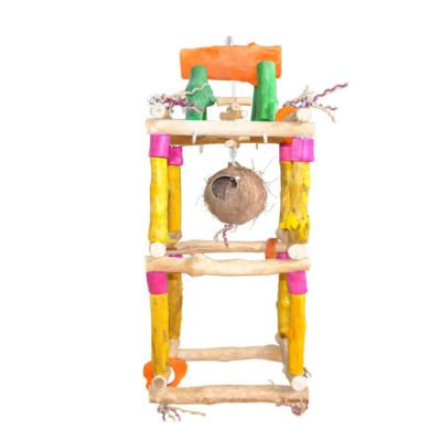 DOUBLE Java wood Swing SML perch bird toy parrots macaw