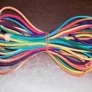 "35 feet 1/8"" Colored Leather laces bird toy part parrot"