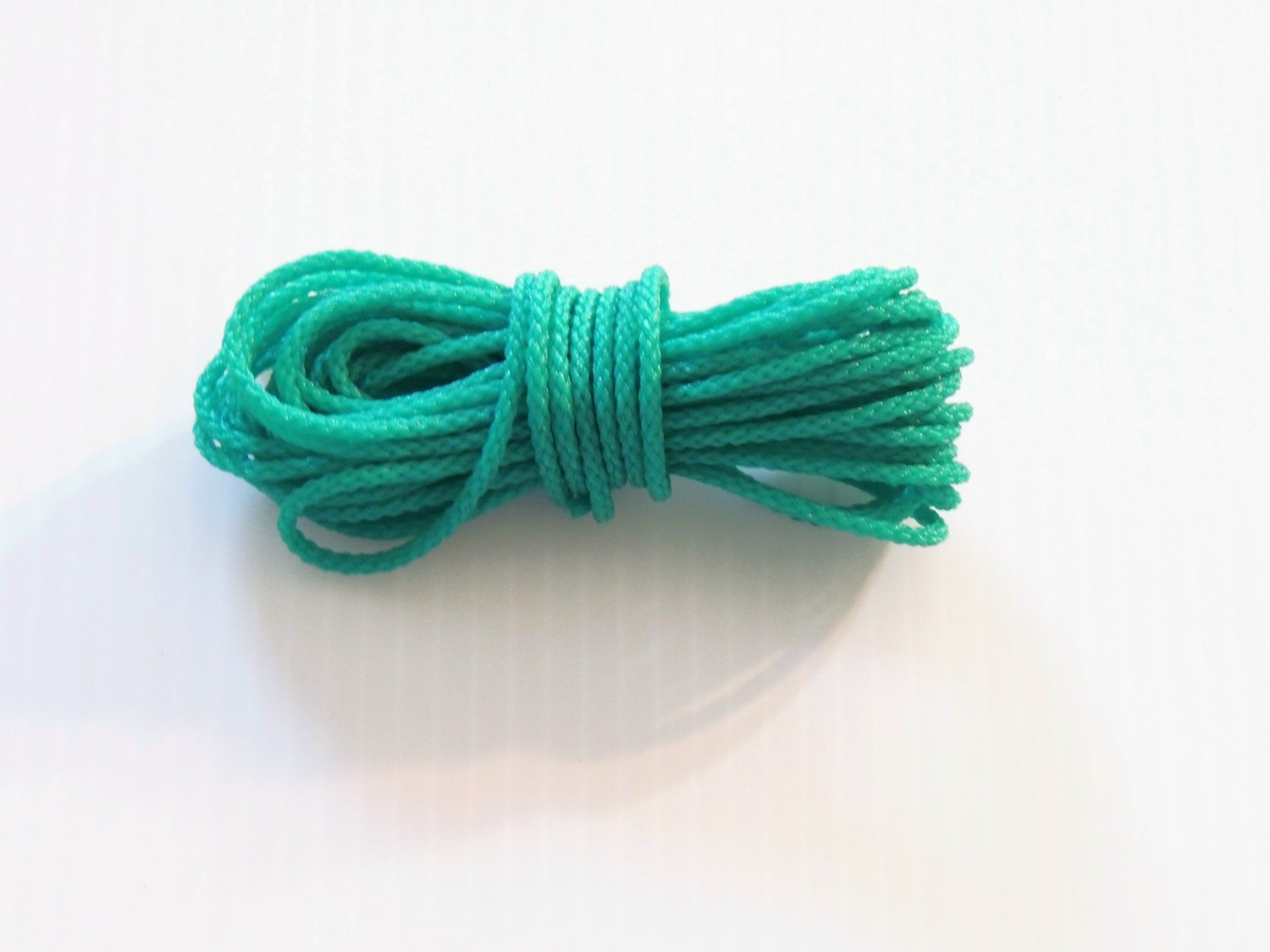 50' GREEN POLY/PAULIE ROPE bird toy parts parrots crafts pets