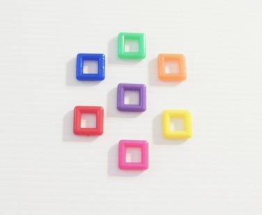 "7 1"" Solid Squares bird toy parts parrots crafts pets"
