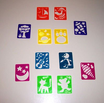 12 Mini STENCILS toys gifts prizes kids loot bag crafts