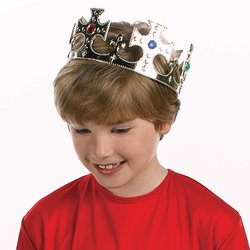 JEWELED GOLDTONE CROWN toys gifts prizes kid game party