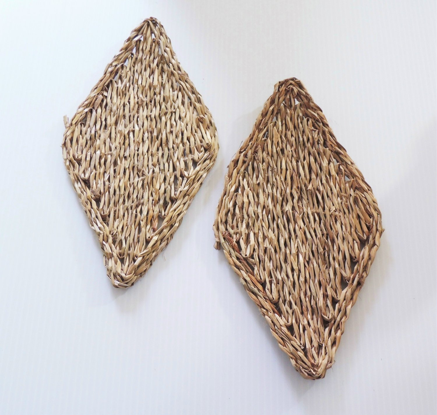 """11"""" SEAGRASS Mats (2) bird toys parrots cages parts crafts"""
