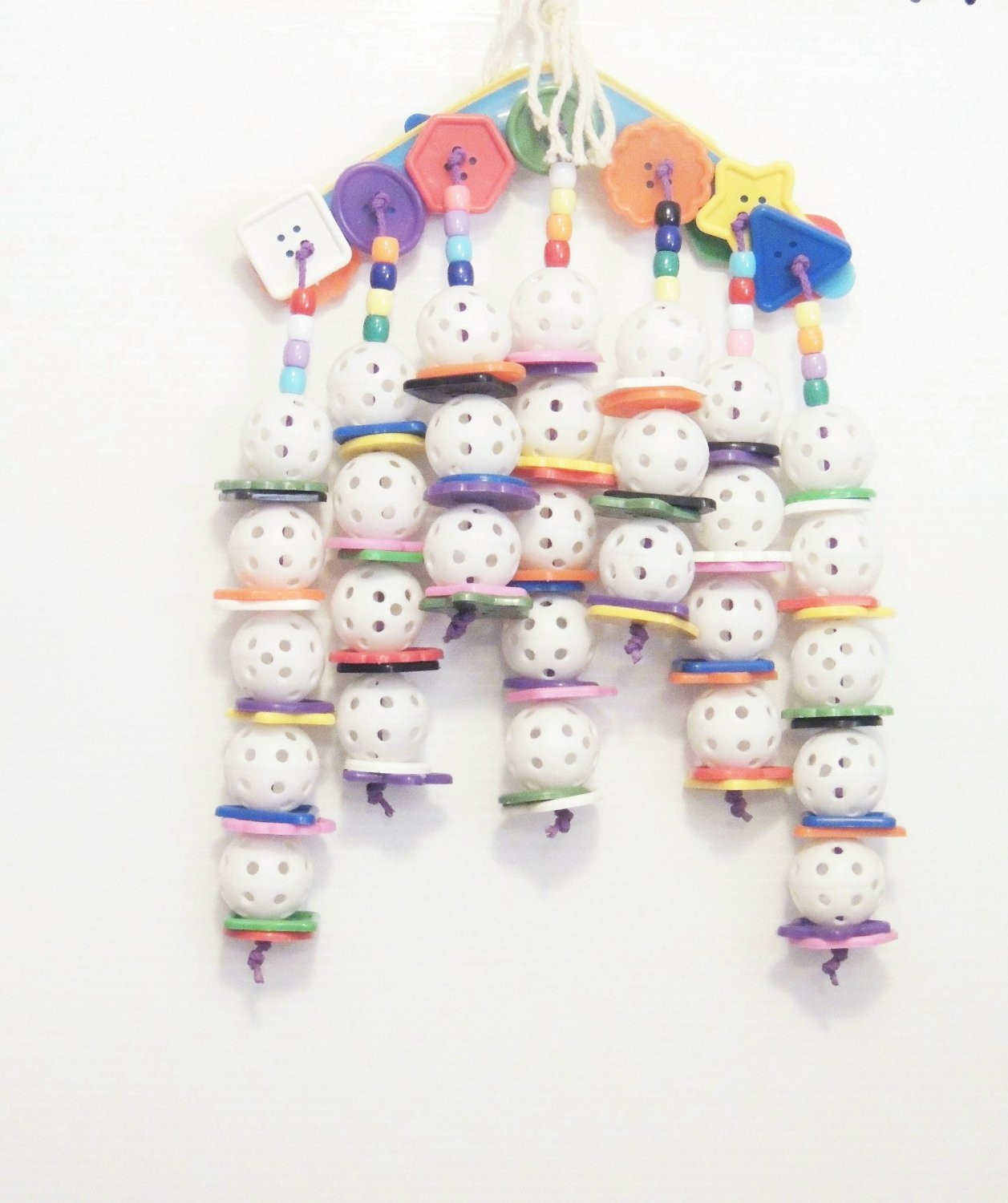 Buttons UP bird toy parrots cages perches amazons