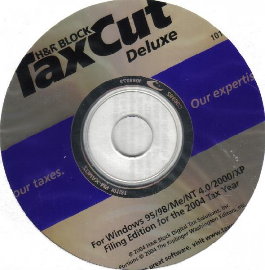 TaxCut Deluxe 2004 Income Tax Software from H&R Block