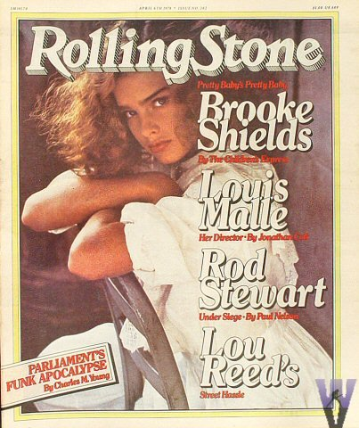 Brooke Shields - Rolling Stone Magazine Issue 262 (April 6, 1978)