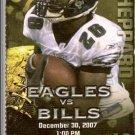 Philadelphia Eagles vs Buffalo Bills Ticket Stub December 30, 2007