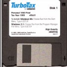 TurboTax For Windows Tax Year 1995 Personal 1040 Final