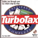 TurboTax For Windows Tax Year 1997 CD Personal 1040 Final Edition