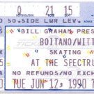 BRIAN BOITANO / KATERINA WITT Tuesday June 12, 1990 Philadelphia Spectrum TICKET STUB