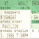 STYX / KANSAS Full Unused Ticket June 23, 1996 Hershey Park Stadium Concert Stub