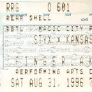 STYX / KANSAS Ticket Stub August 31, 1996 Finger Lakes Performing Arts Center Concert
