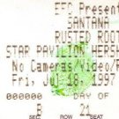 SANTANA / RUSTED ROOT Ticket Stub July 18, 1997 Star Pavilion Hershey Stadium Concert