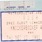 RUSH / VINNIE MOORE Ticket Stub December 12, 1991 Knickerbocker Arena Albany, NY Concert