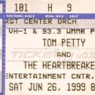 TOM PETTY and THE HEARTBREAKERS Ticket Stub June 26, 1999 Entertainment center Camden, NJ Concert