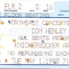 DON HENLEY Ticket Stub May 1, 1990 Knickerbocker Arena Albany, NY Concert