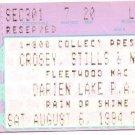 CROSBY, STILLS & NASH / FLEETWOOD MAC Ticket Stub August 6, 1994 Darien Lake Performing Arts Center