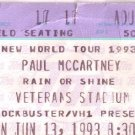 Paul McCartney Ticket Stub June 13, 1993 Veterans Stadium Philadelphia, PA Concert