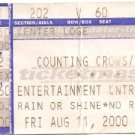 COUNTING CROWS / LIVE Ticket Stub August 11, 2000 Entertainment Center, Camden, NJ Concert