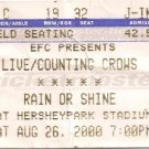 LIVE / COUNTING CROWS Ticket Stub August 26, 2000 Hershey Park Stadium, PA Concert