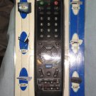 Black 6-in-1 Universal Remote Control  TV, SAT, DVD, VCR, CD, AUX Controls 6 Components!