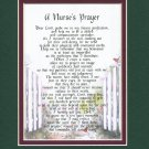 "Beautiful Gift Poem For A Nurse ""A Nurse's Prayer"" #167, Nursing School Graduation Present 8x10"