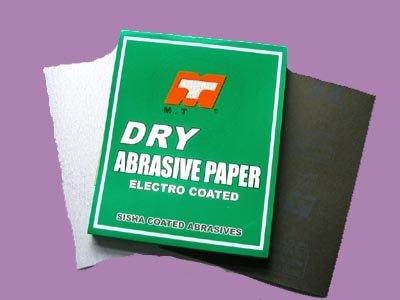 Dry sand paper