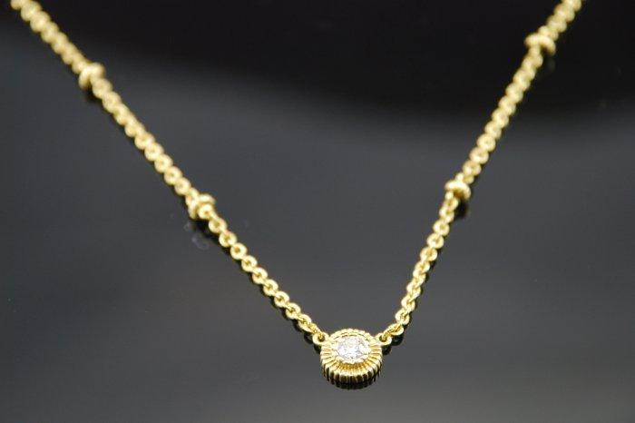 Judith Ripka Diamond Solitaire 18K Necklace