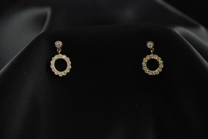 Very Diamond O Earrings 14K