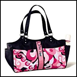 Pink Swirl Nylon Diaper Bag Set by Russ Berrie baby
