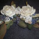 White Rose Floral Swag Home Interiors