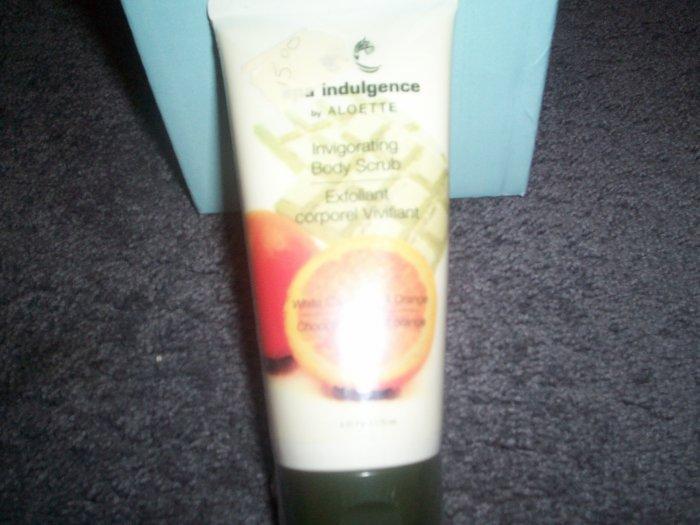 Aloette Invorating Body Scrub White Chocolate and Orange 6 fl oz