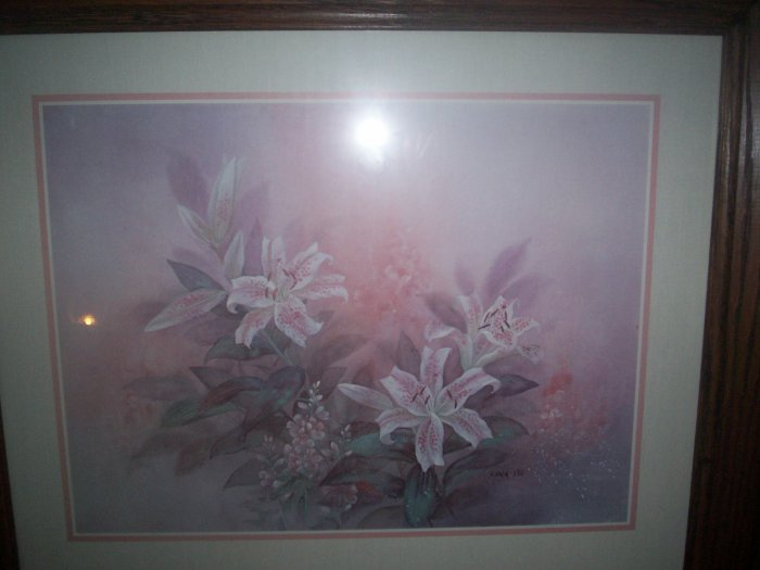 Framed and Matted Print of Tiger Lilies by Lena Liu