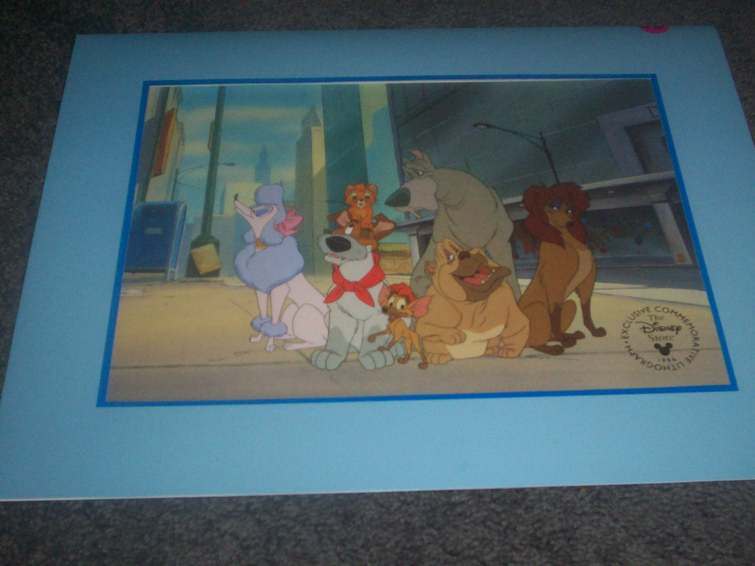 Oliver & Company Disney  Lithograph