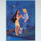 Disney  Litho Lithograph Pocahontas Cartoon 1995
