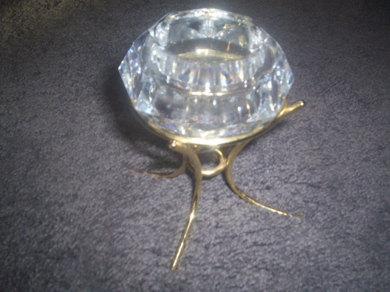 PARTYLITE DIAMOND SOLITAIRE VOTIVE CANDLE HOLDER